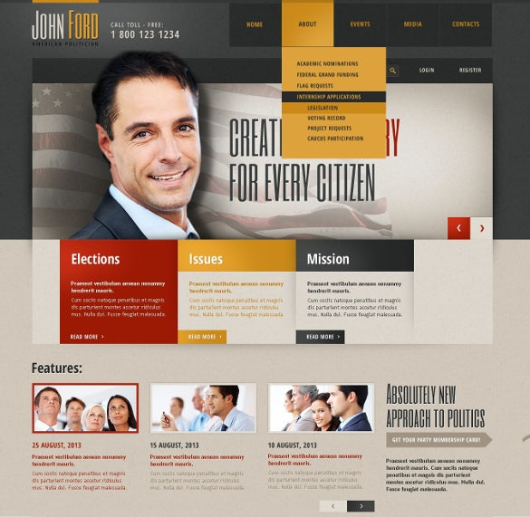 beautiful political responsive website template