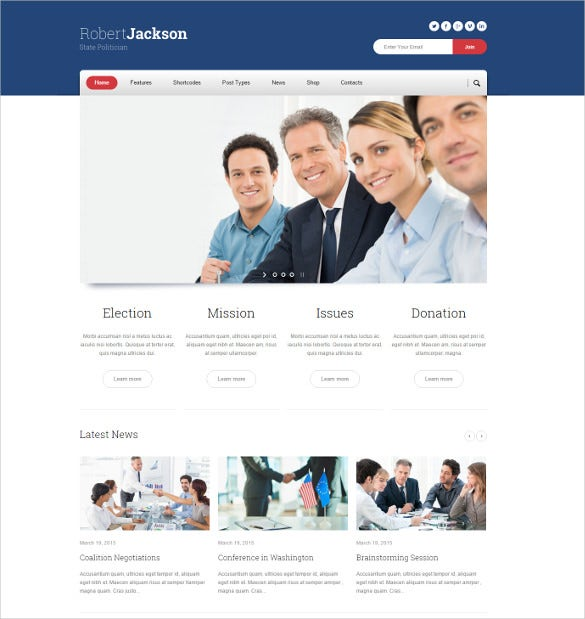 election campaign political wp website theme