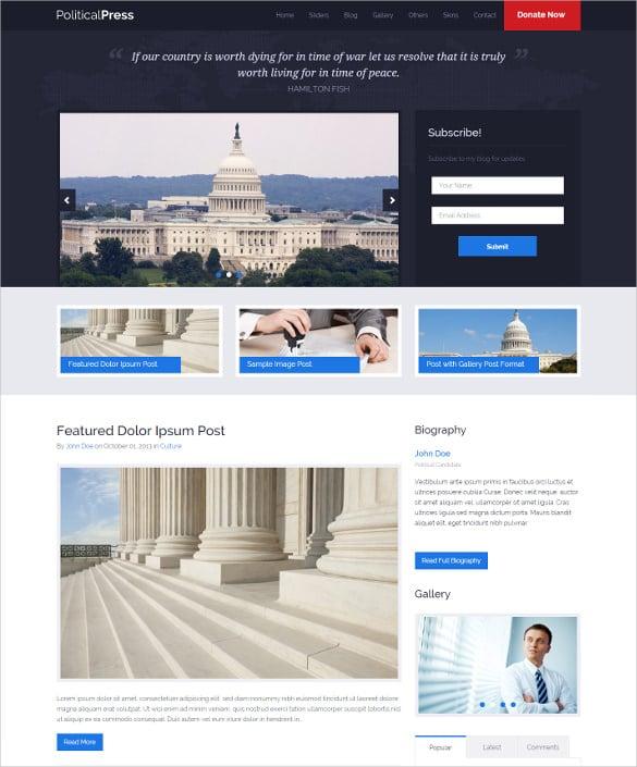 political press responsive wordpress website theme