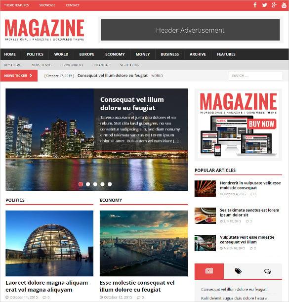 political magazine wordpress website theme