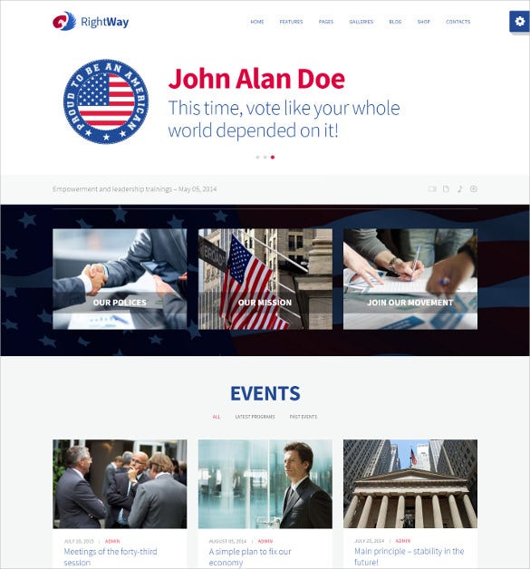 political multipurpose wordpress website theme