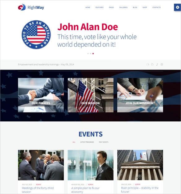 political multipurpose wordpress website theme