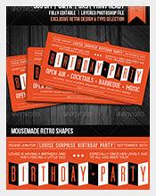 Retro-themed-Birthday-Party-Invite