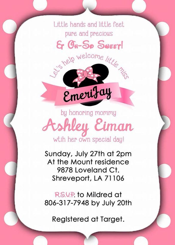 minnie mouse party invitation1