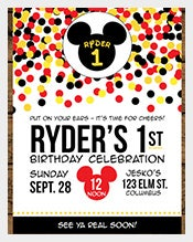 Whilte-and-colourful-dotted-Mickey-Mouse-Birthday-Invitation
