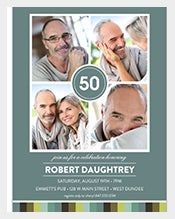 Four-Square-Photographed-50th-Birthday-Invitation-Design
