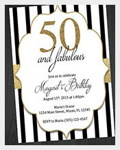 Gold-Black-and-White-50th-Birthday-Invitation
