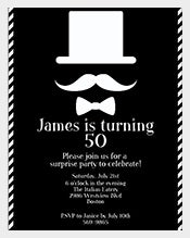 Simple-Black-And-White-Coloured-50th-Birthday-invitation
