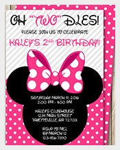 Simple-Pink-Minnie-Mouse-Birthday-Invitation