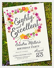 Elegant-and-beautiful-Floral-80th-birthday-invitation
