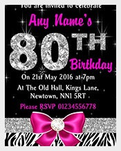 Pink-Diamond-And-Zebra-Print--80th-Birthday-Invitation-