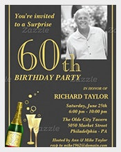 Customized-60th-Birthday-Party-Invitation-with-Customizable-Photograph