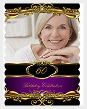 Elegant-Purple-Plum-Black-60th-Birthday-Invitation-with-photograph