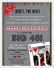 Poker-Adult-40th--Birthday-Invitation