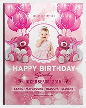 Pink-Colour-Kids-Birthday-Invitation-Template