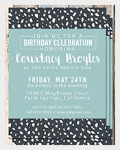 Black-And-White-Custom-Caricature-Adult-Birthday-Invitation