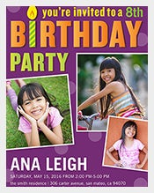 Purple-Matte-Photo-birthday-invitation-