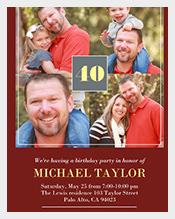 Red-Nostalgic-Frame-Adult-Photo-Birthday-Invitation