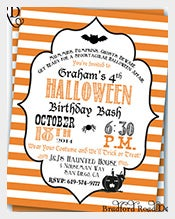 Customizable-Orange-Striped-halloween-Birthday-Invitation