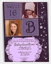 Purple-Bling-Teenage-Birthday-Invitation-For-Girls-With-Custom-Photo