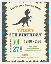 Self-Editable-Pesonalized-Dinosaur-Birthday-Invitation