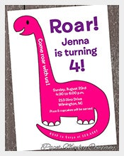 Simple-Pink-Dinosaur-Birthday-Invitation-for-Girls