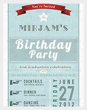 Vintage-Retro-Birthday-Invitation-Postcard