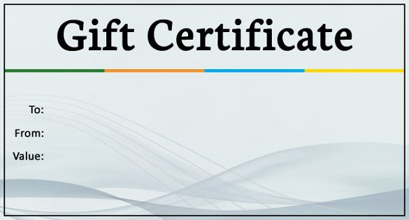 Business Gift Certificate Templates  Free Sample Example