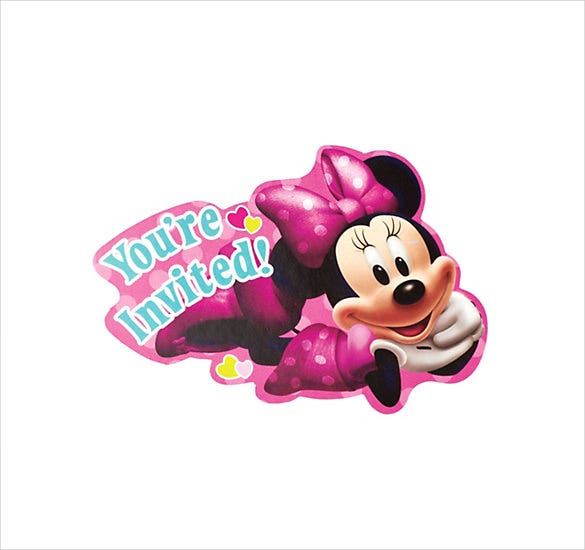 smily minnie mouse invitation