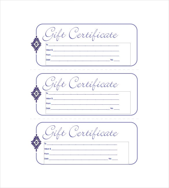 Business Gift Certificate Word Format Template Free