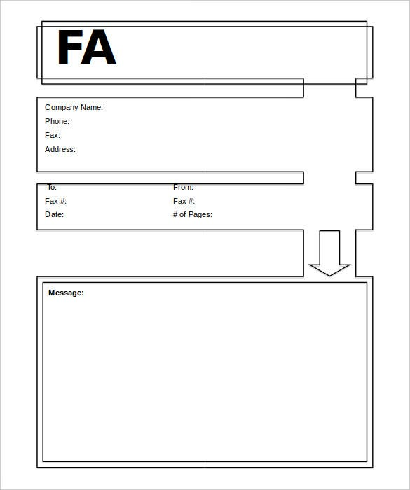 generic fax modern cover sheet template free download