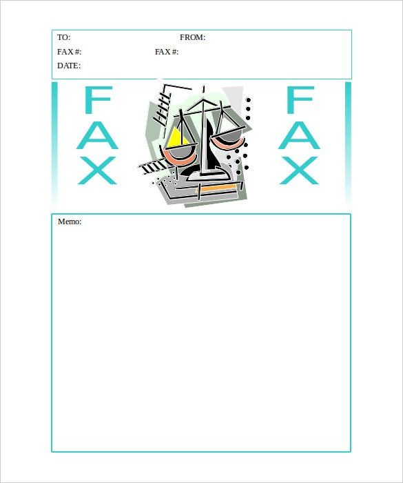 scales of justice generic fax cover sheet editable