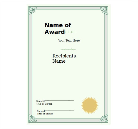 8 powerpoint certificate template free sample example format portrait certificate template free download toneelgroepblik Image collections