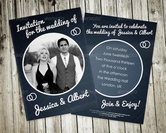 elegant dark wedding invitation
