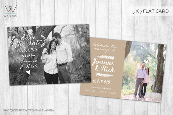romantic country wedding invitation
