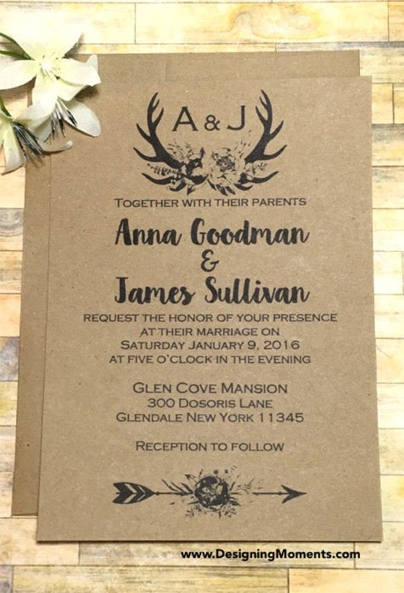 21 Country Wedding Invitation Templates Free Sample Example