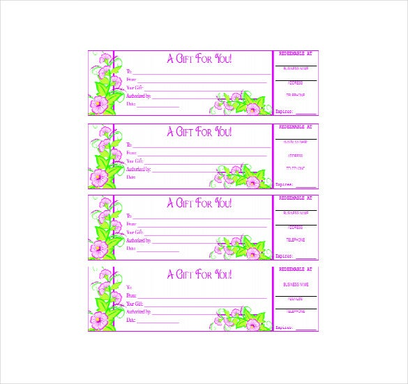 purple colour business gift certificate pdf format free download