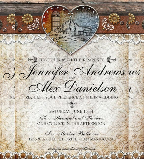 21 Country Wedding Invitation Templates Psd Word Ai
