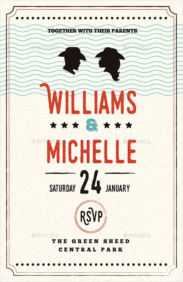 simple country wedding invitation psd format