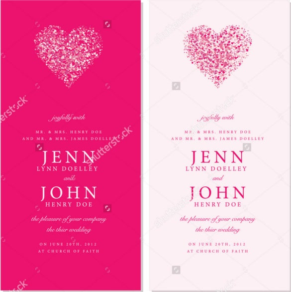 vector heart invitation frames country wedding invitation suite