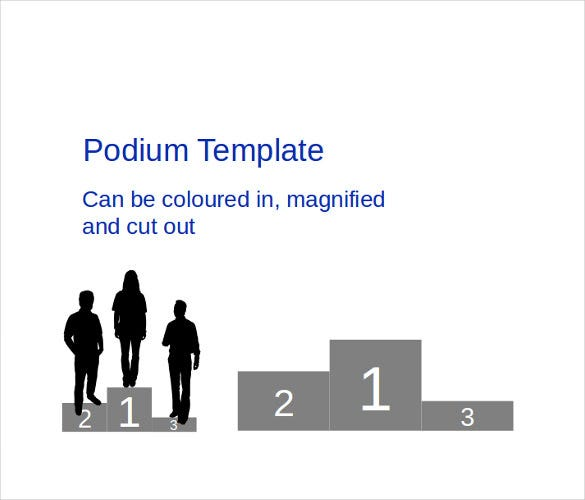 8 powerpoint certificate template free sample example format sample podium powerpoint template download yadclub Choice Image