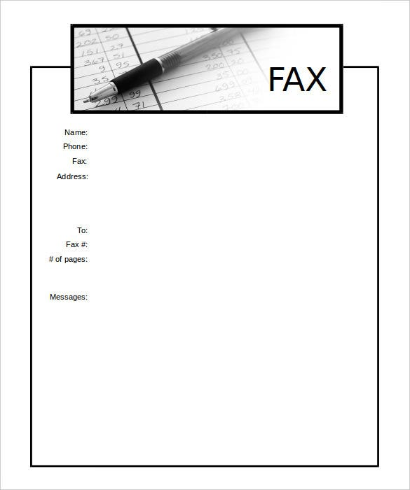 Accounting Cover Sheet In Microsoft Word Format Sample