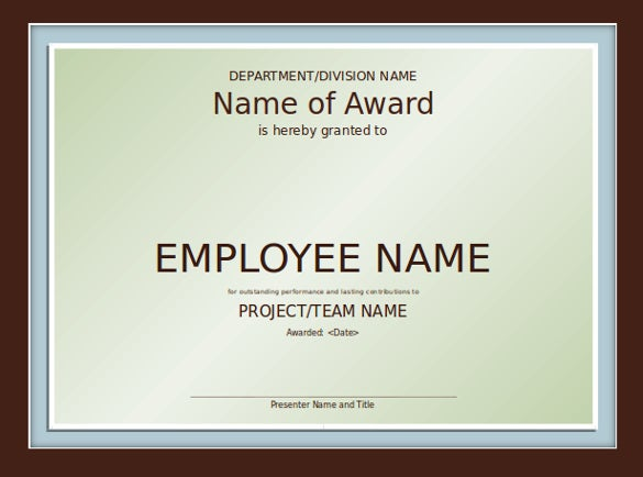 powerpoint certificate of appreciation
