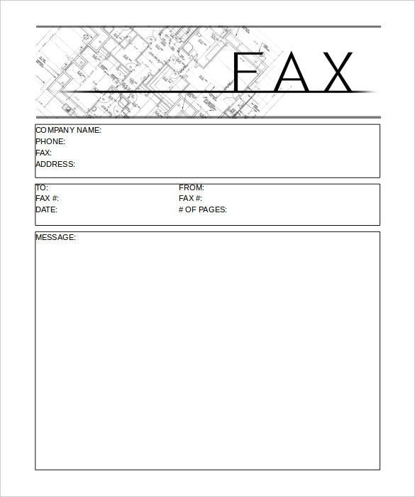 Printable Construction Fax Cover Sheet Template Free Download  Fax Form Template Free