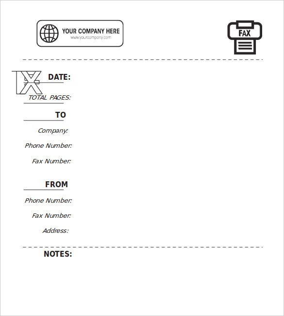 Free Fax Cover Sheet Template Word Download Sample