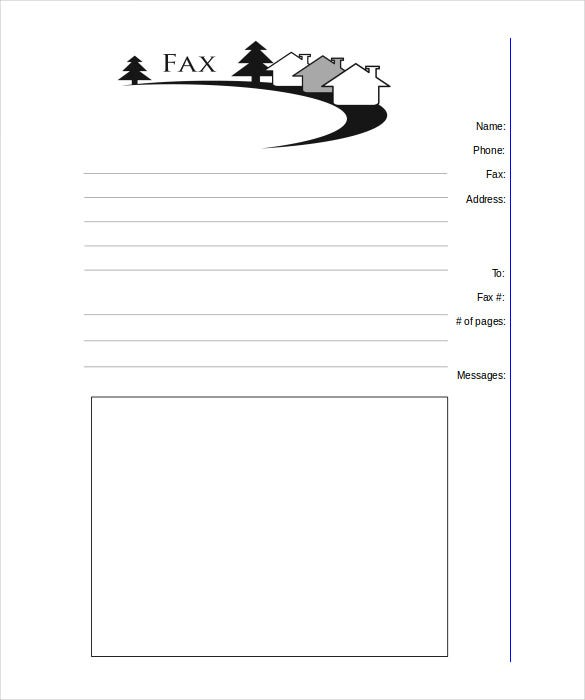 real estate fax cover sheet printable template word download