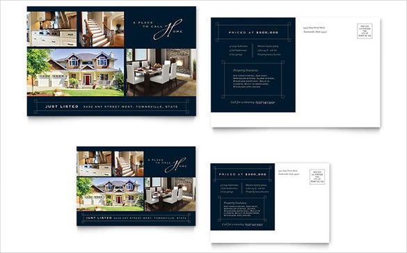 real estate free postcard template