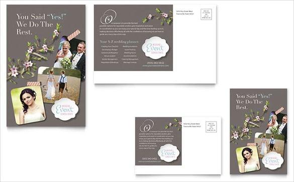 wedding planner postcard template
