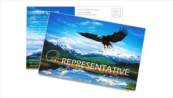 nature eagle free postcard template