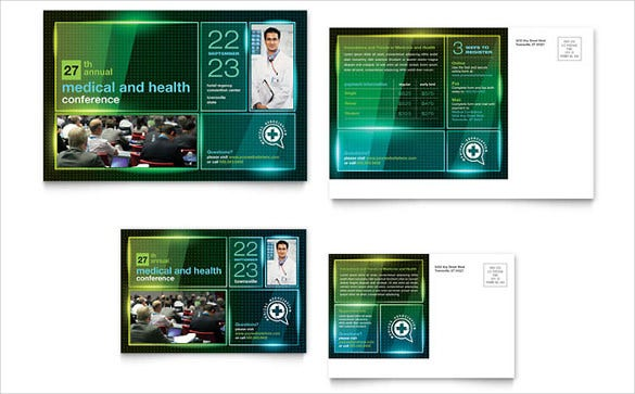 postcard template for medical conference